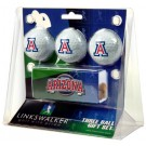Arizona Wildcats 3 Ball Gift Pack with Hat Clip