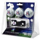 Arizona Wildcats 3 Golf Ball Gift Pack with Spring Action Tool