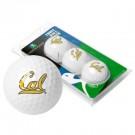 California (UC Berkeley) Golden Bears 3 Golf Ball Sleeve (Set of 3)