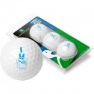 Citadel Bulldogs Top Flite XL Golf Balls 3 Ball Sleeve (Set of 3)