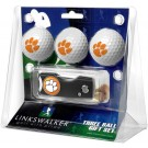 Clemson Tigers 3 Golf Ball Gift Pack with Spring Action Tool
