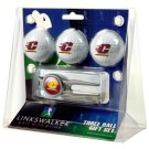 Central Michigan Chippewas 3 Ball Golf Gift Pack with Kool Tool