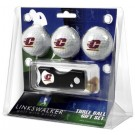 Central Michigan Chippewas 3 Golf Ball Gift Pack with Spring Action Tool