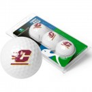 Central Michigan Chippewas Top Flite XL Golf Balls 3 Ball Sleeve (Set of 3)