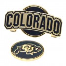 Colorado Buffaloes Slider Clip with Golf Ball Marker (Set of 3)