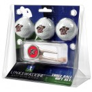 California State (Northridge) Matadors 3 Golf Ball Gift Pack with Cap Tool
