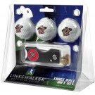 California State (Northridge) Matadors 3 Golf Ball Gift Pack with Spring Action Tool