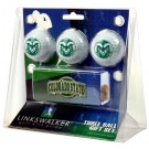 Colorado State Rams 3 Ball Gift Pack with Hat Clip
