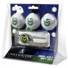 Colorado State Rams 3 Ball Golf Gift Pack with Kool Tool