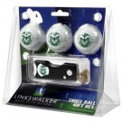 Colorado State Rams 3 Golf Ball Gift Pack with Spring Action Tool