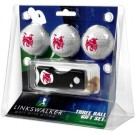 Central Washington Wildcats 3 Golf Ball Gift Pack with Spring Action Tool