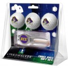 East Carolina Pirates 3 Ball Golf Gift Pack with Kool Tool
