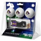 East Carolina Pirates 3 Golf Ball Gift Pack with Spring Action Tool