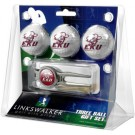 Eastern Kentucky Colonels 3 Ball Golf Gift Pack with Kool Tool