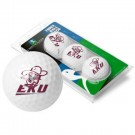 Eastern Kentucky Colonels Top Flite XL Golf Balls 3 Ball Sleeve (Set of 3)