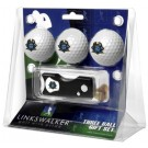 East Tennessee State Buccaneers 3 Golf Ball Gift Pack with Spring Action Tool