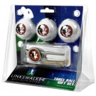 Florida State Seminoles 3 Ball Golf Gift Pack with Kool Tool