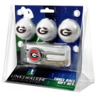 Georgia Bulldogs 3 Ball Golf Gift Pack with Kool Tool