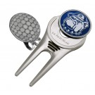Georgetown Hoyas Divot Tool Hat Clip with Golf Ball Marker (Set of 2)