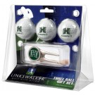Hawaii Rainbow Warriors 3 Golf Ball Gift Pack with Cap Tool