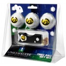 Iowa Hawkeyes 3 Golf Ball Gift Pack with Spring Action Tool