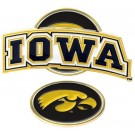 Iowa Hawkeyes Slider Clip with Golf Ball Marker (Set of 3)