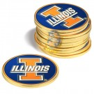Illinois Fighting Illini Golf Ball Marker (12 Pack)