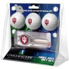Indiana Hoosiers 3 Ball Golf Gift Pack with Kool Tool
