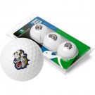 James Madison Dukes Top Flite XL Golf Balls 3 Ball Sleeve (Set of 3)