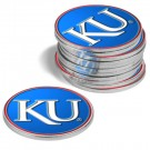 Kansas Jayhawks Golf Ball Marker (12 Pack)