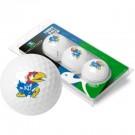 Kansas Jayhawks Top Flite XL Golf Balls 3 Ball Sleeve (Set of 3)