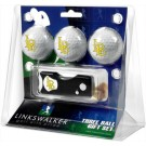 California State (Long Beach) Dirtbags 3 Golf Ball Gift Pack with Spring Action Tool