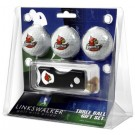 Louisville Cardinals 3 Golf Ball Gift Pack with Spring Action Tool