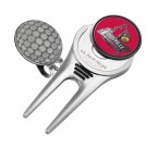 Louisville Cardinals Divot Tool Hat Clip with Golf Ball Marker (Set of 2)
