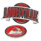 Louisville Cardinals Slider Clip with Golf Ball Marker (Set of 3)