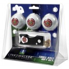 Louisiana (Lafayette) Ragin' Cajuns 3 Golf Ball Gift Pack with Spring Action Tool