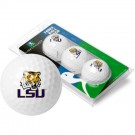 Louisiana State (LSU) Tigers Top Flite XL Golf Balls 3 Ball Sleeve (Set of 3)