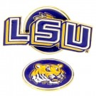 Louisiana State (LSU) Tigers Slider Clip with Golf Ball Marker (Set of 3)