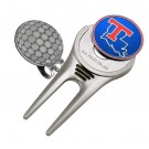 Louisiana Tech Bulldogs Divot Tool Hat Clip with Golf Ball Marker (Set of 2)