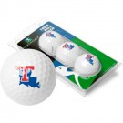 Louisiana Tech Bulldogs Top Flite XL Golf Balls 3 Ball Sleeve (Set of 3)