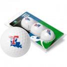 Louisiana Tech Bulldogs Top Flite XL Golf Balls 3 Ball Sleeve (Set of 3)