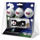 Massachusetts Minutemen 3 Golf Ball Gift Pack with Spring Action Tool