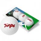 Maryland Terrapins Top Flite XL Golf Balls 3 Ball Sleeve (Set of 3)