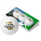 Marquette Golden Eagles Top Flite XL Golf Balls 3 Ball Sleeve (Set of 3)