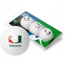 Miami Hurricanes Top Flite XL Golf Balls 3 Ball Sleeve (Set of 3)