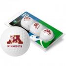 Minnesota Golden Gophers Top Flite XL Golf Balls 3 Ball Sleeve (Set of 3)