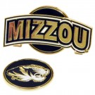Missouri Tigers Slider Clip with Golf Ball Marker (Set of 3)