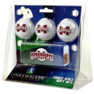 Mississippi State Bulldogs 3 Ball Gift Pack with Hat Clip