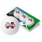 Mississippi State Bulldogs Top Flite XL Golf Balls 3 Ball Sleeve (Set of 3)