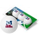 Mississippi (Ole Miss) Rebels 3 Golf Ball Sleeve (Set of 3)